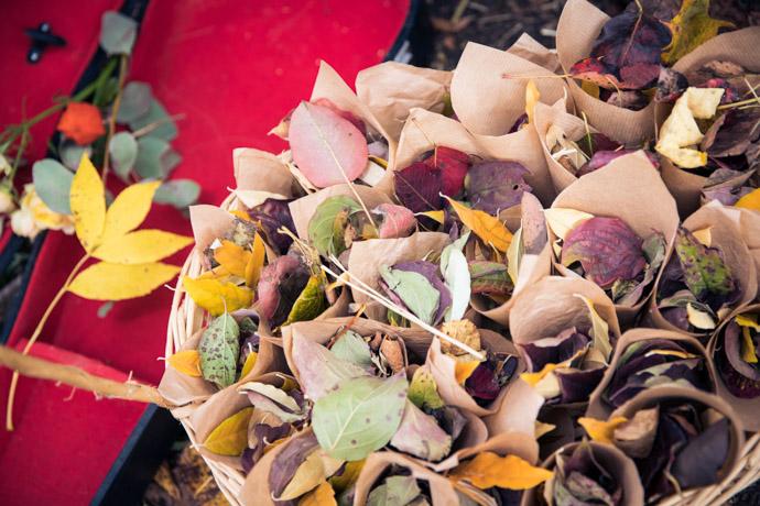 feuilles d'automne à jeter