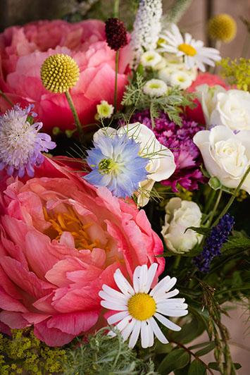 bouquet de fleur en gros plan