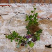 décor cercle fleuri