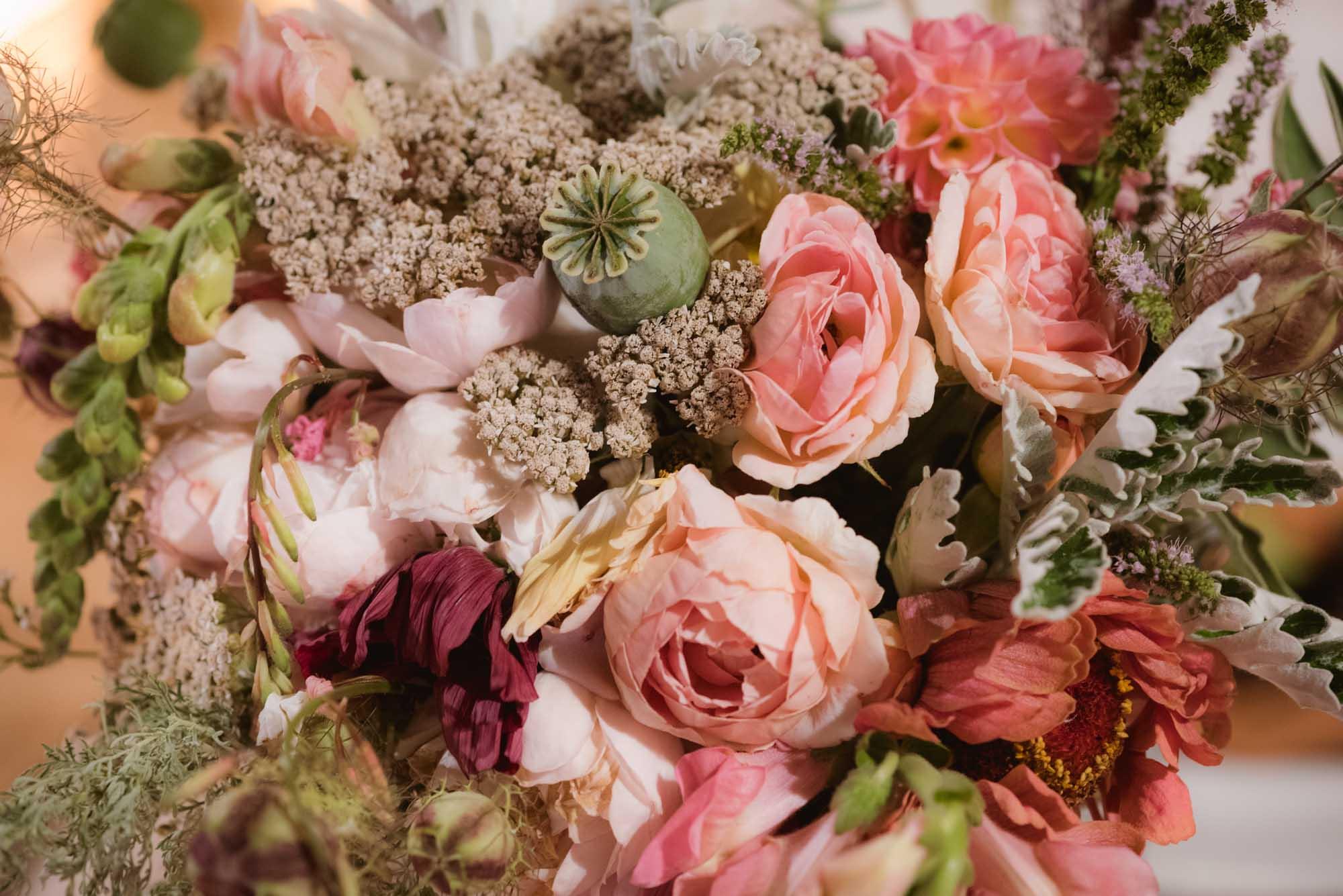 bouquet de mariée 100% local